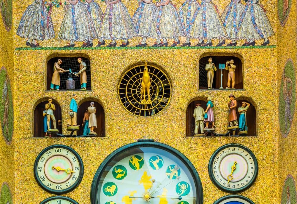 Detalle del reloj astronómico de Olomouc