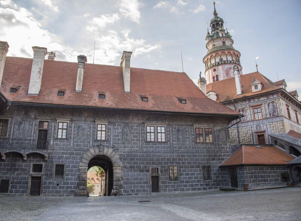 Entrada al castillo de Cesky Krumlov