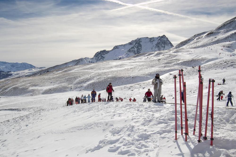 Esquiadores en Formigal