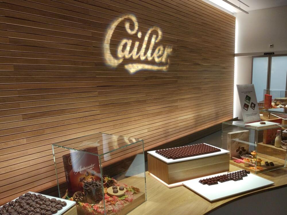 Entrada a Cailler, una de las mejores chocolaterías del mundo
