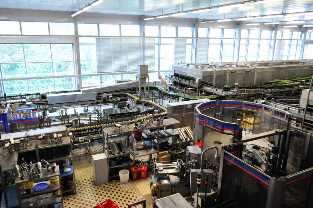 Interior de la fábrica de Budweiser