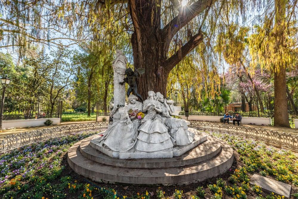 Glorieta de Bécquer en el Parque de María Luisa de Sevilla