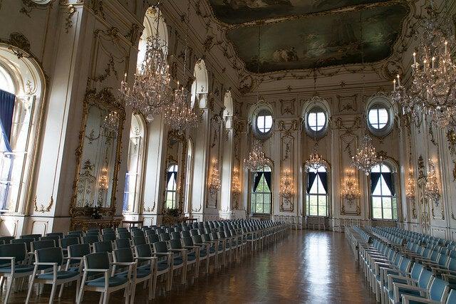Interior del palacio arzobispal de Kromeriz