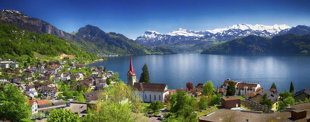 Vista del Lago Lucerna