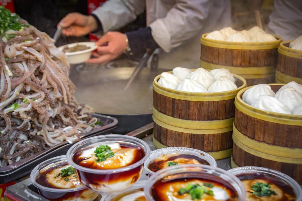 Mercadillo callejero en Pekín