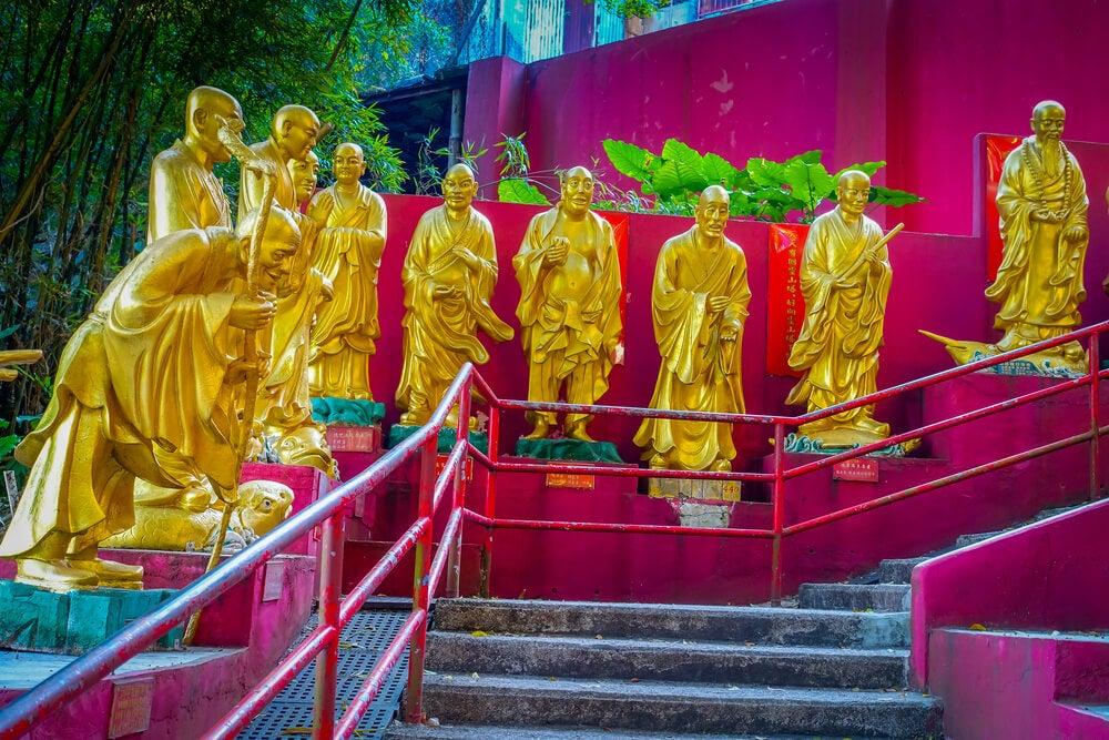 Monasterio de los 10.000 Budas en Hong Kong