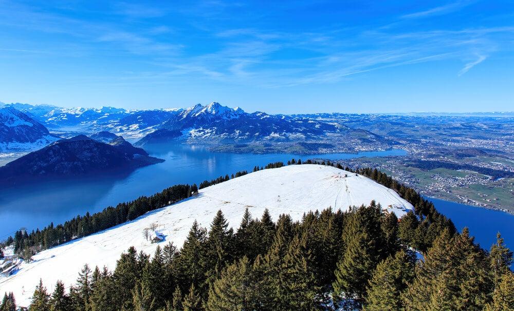 Vista del Monte Rigi en Suiza