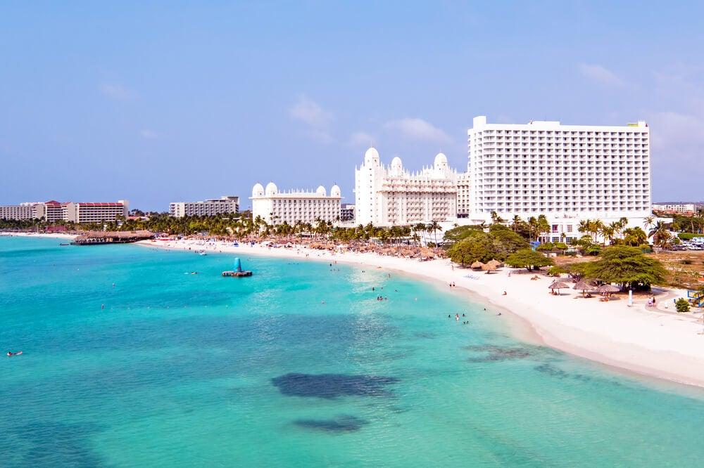 Palm Beach en la isla de Aruba
