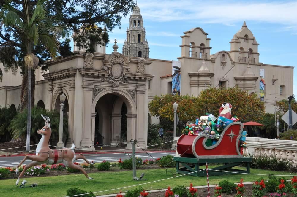 Parque balboa de San Diego en Navidad