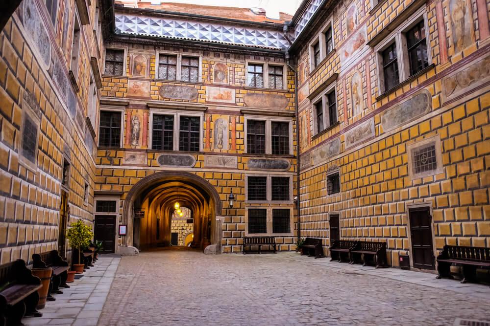 Patio del castillo de Cesky Krumlov