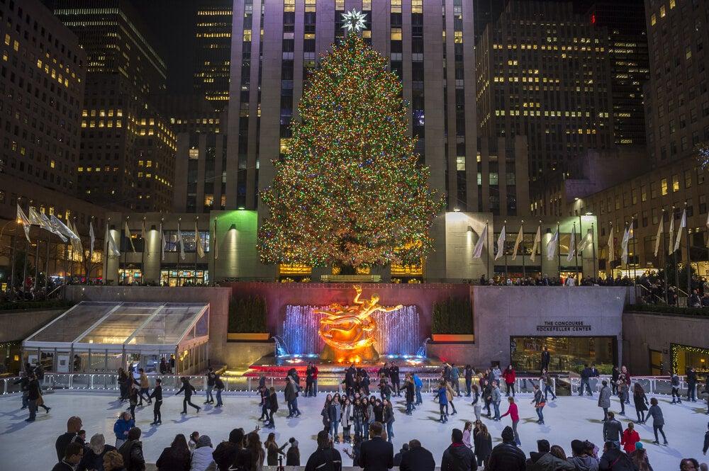 Pista de hielo del Rockefeller Center, uno de los destinos navideños especiales