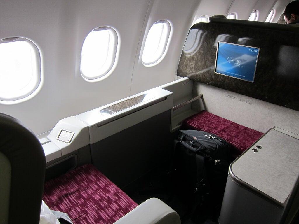 Asiento de primera clase en Qatar Airways