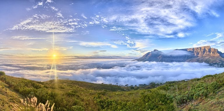 Asciende a la Table Mountain de Ciudad del Cabo