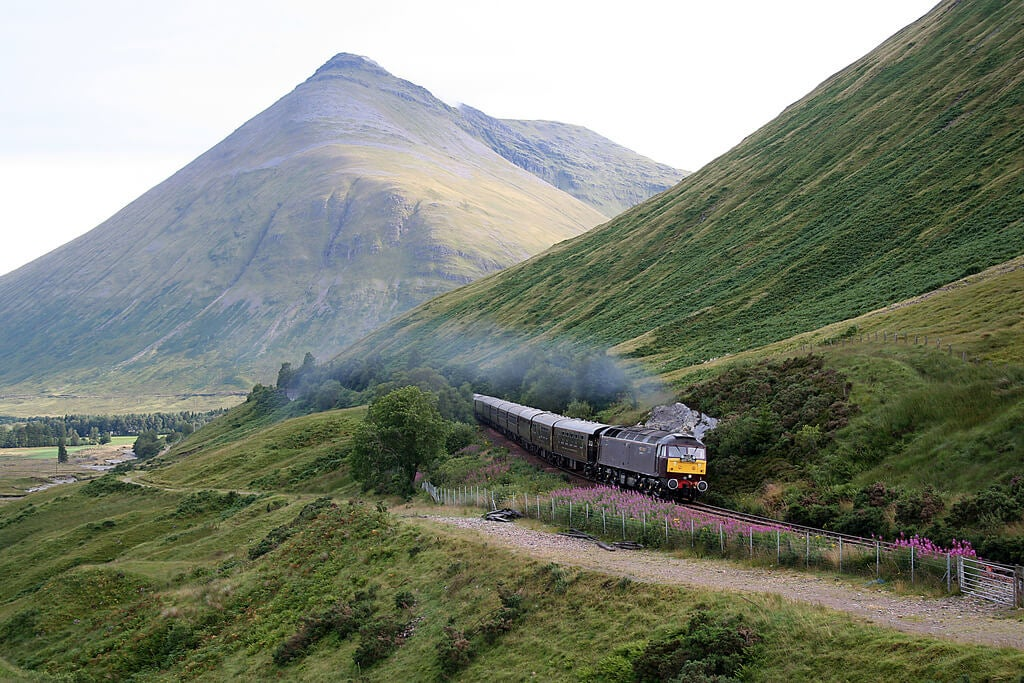 Tren en la West Highland Line