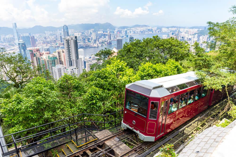Tranvía de Victoria Peak en Hong Kong