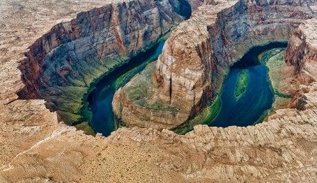 Vista aérea de Horseshoe Bend