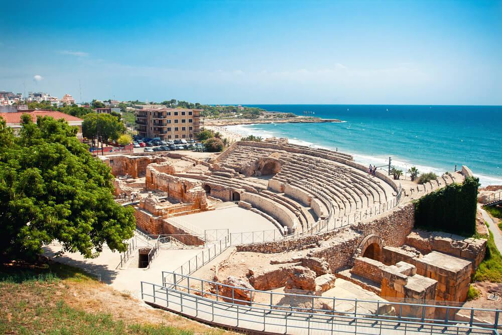 Anfiteatro de la Tarragona romana en Cataluña