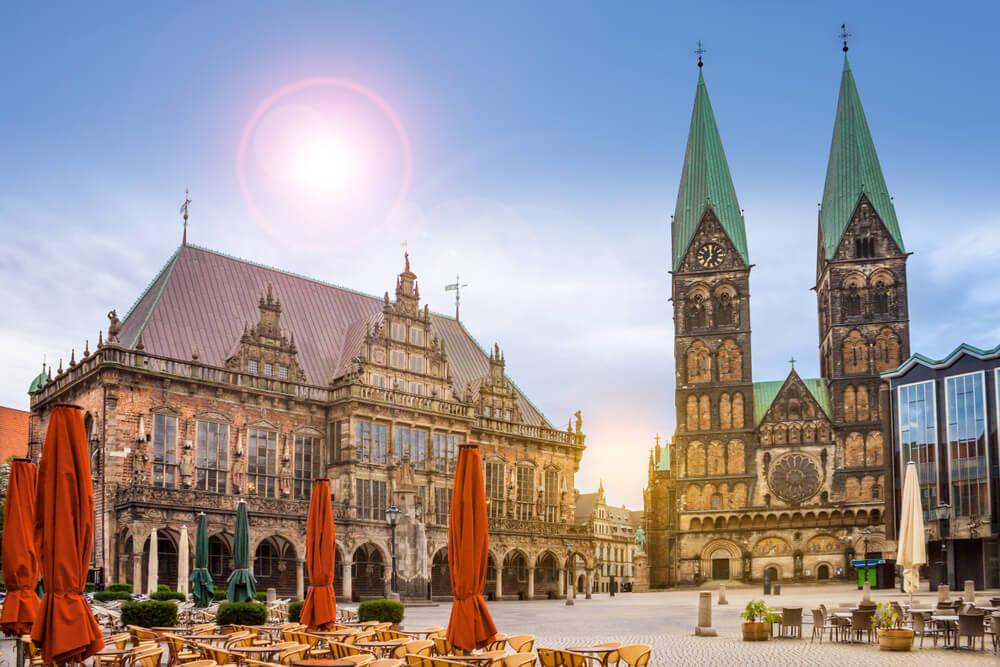 Ayuntamiento y catedral de Bremen