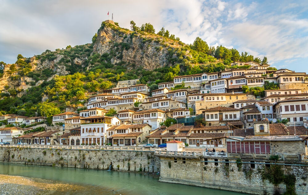 Vista de la ciudad de Berat en Albania
