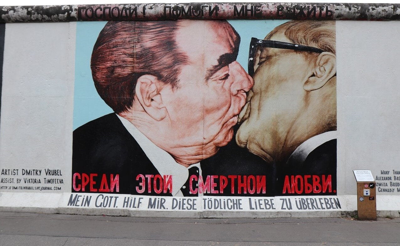 Mural del beso en la East Side Gallery