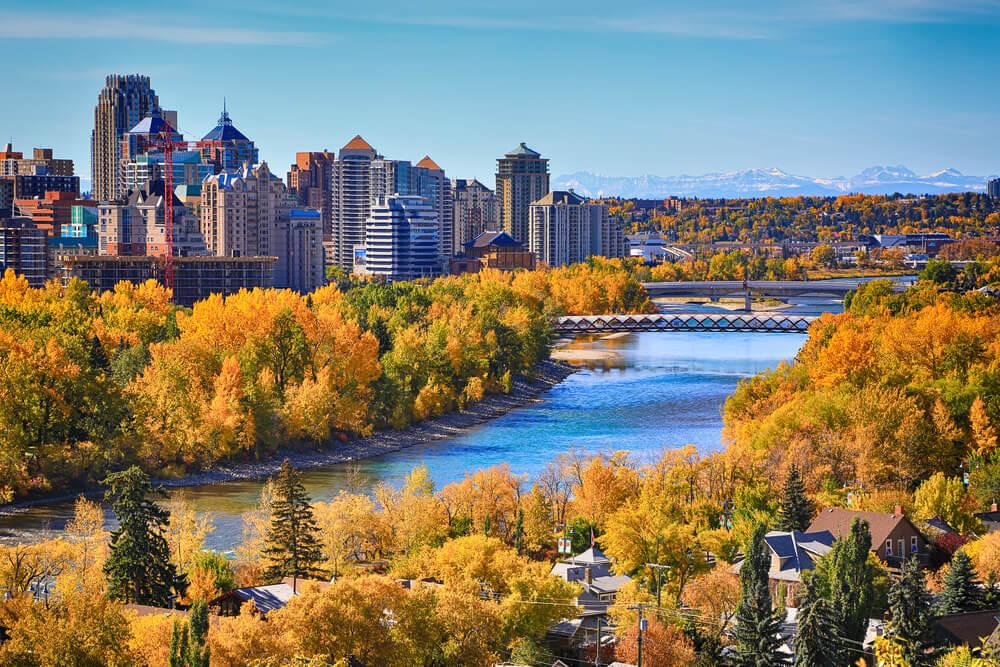 Vista de Calgary en Canadá