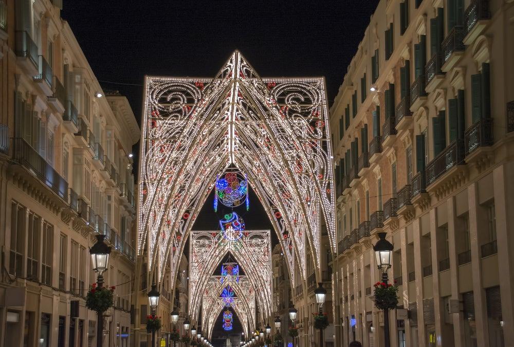 Calle Larios de Málaga iluminada