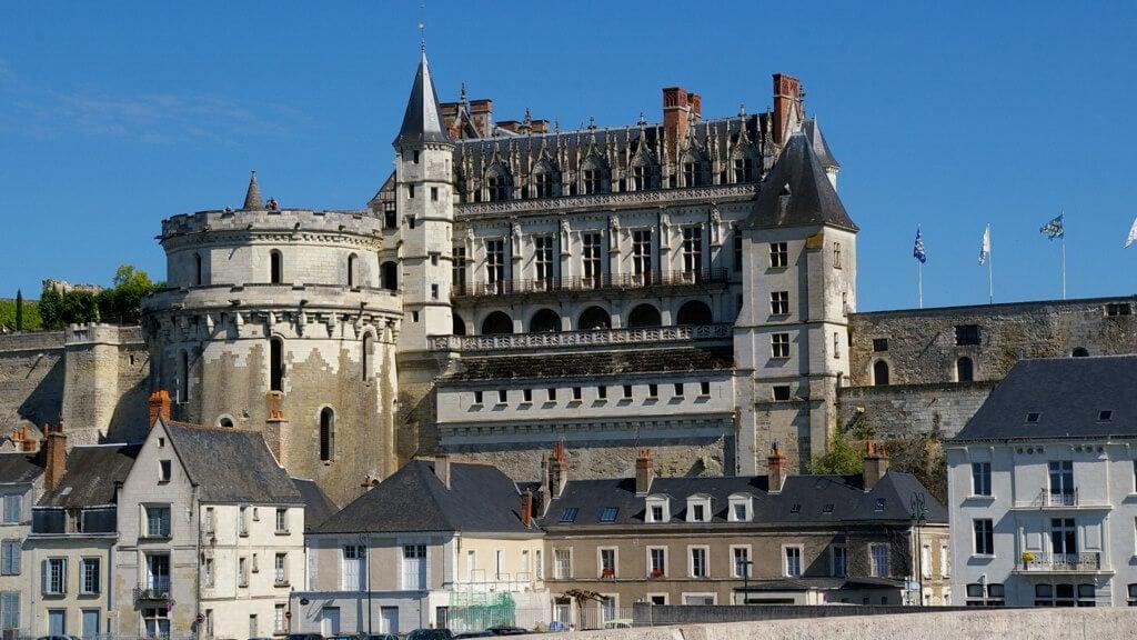 Castillo de Amboise en el valle del Loira