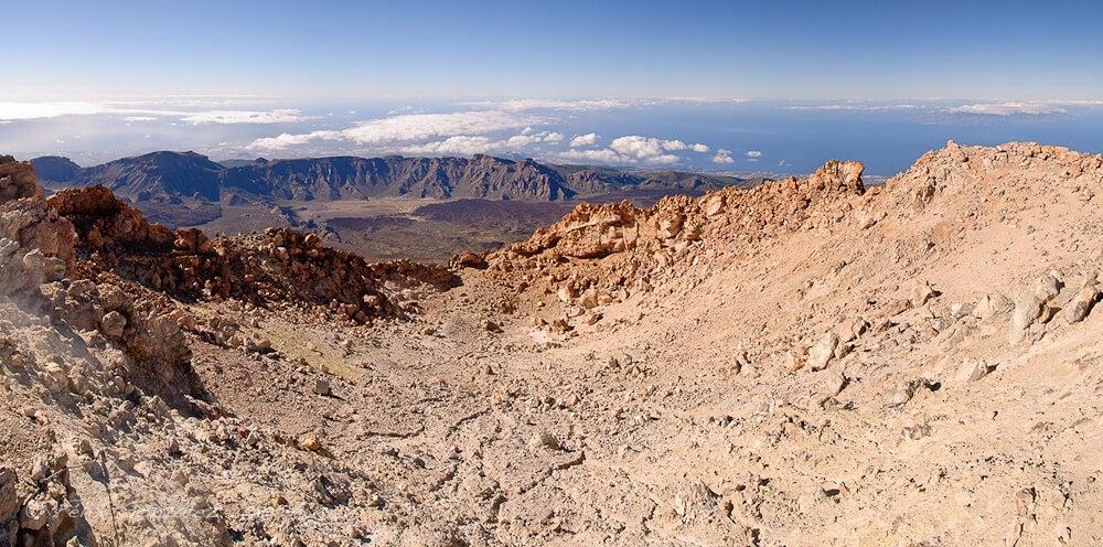 Cráter del volcán Teide