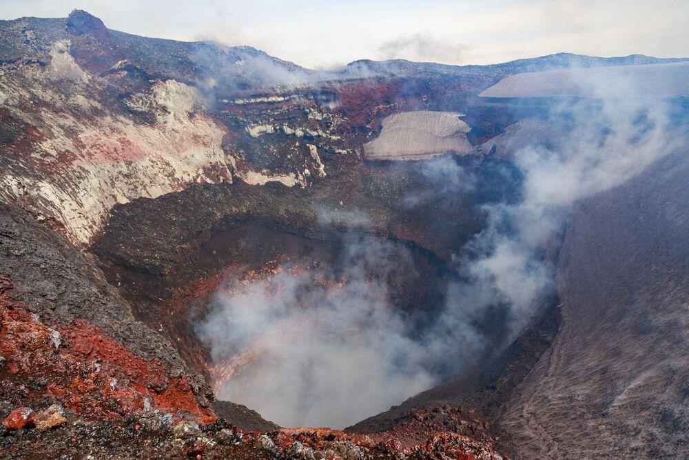 Cráter del volcán Villarrica en Pucón