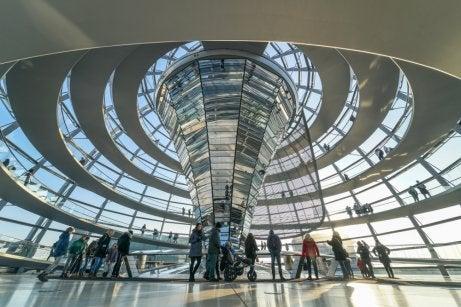 Interior de la cúpula del Reichstag