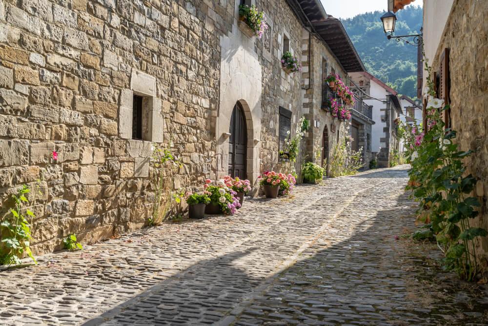 Calle de Escároz en Navarra