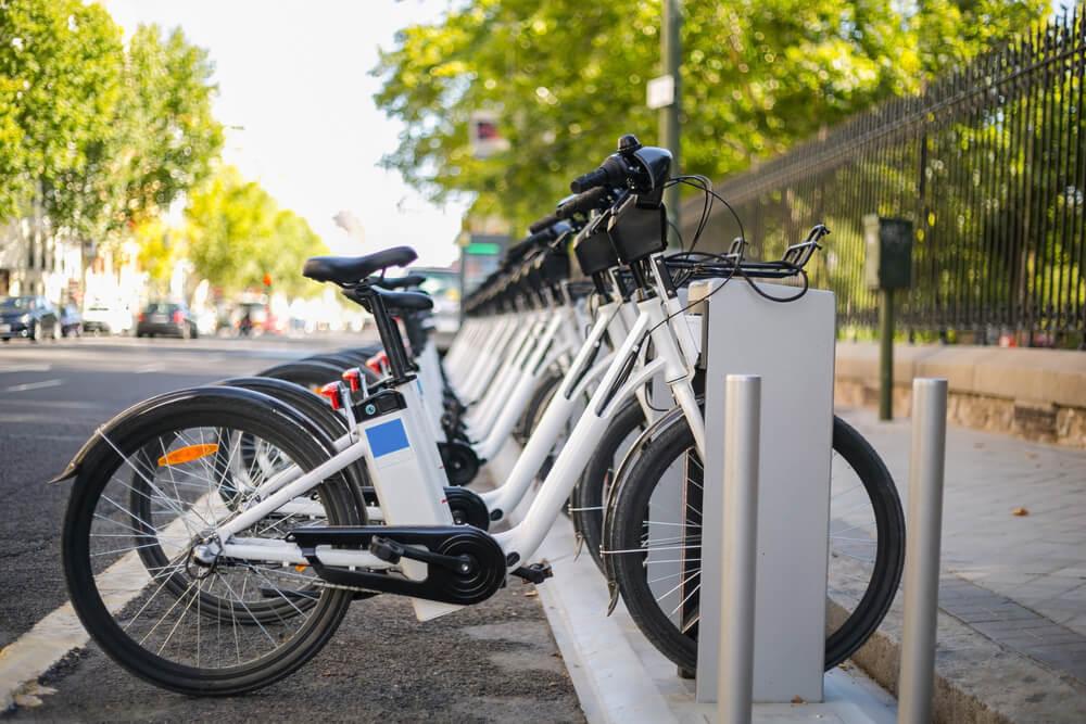 Estación de bicicletas en Madrid