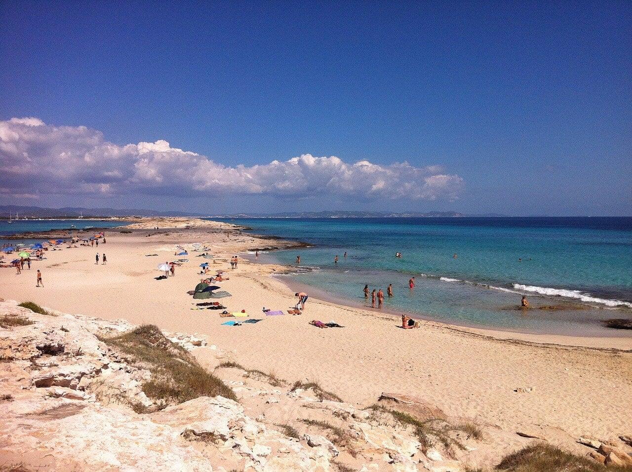 Ses Illetes en la isla de Formentera