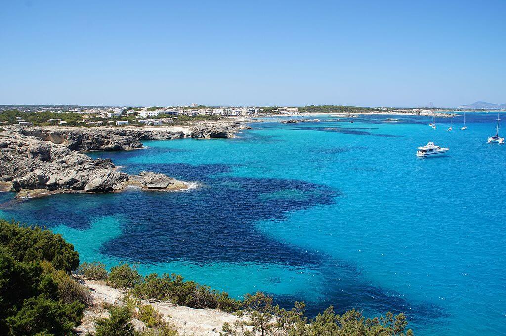 Vista de la isla de Formentera