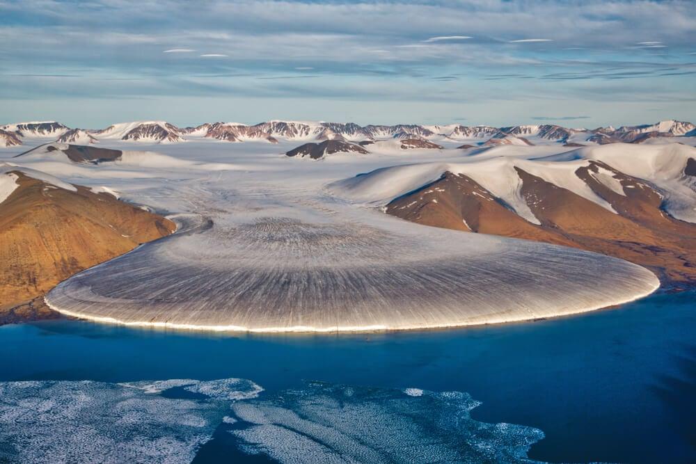 Glaciar en un viaje a Groenlandia