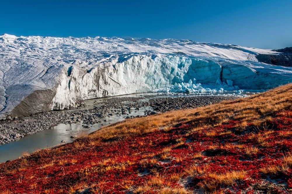 Glaciar Russell en Groenlandi, una de las islas más grandes del planeta