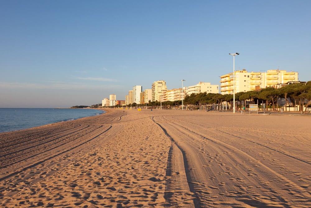 Vista de la Gran Playa en Playa de Aro