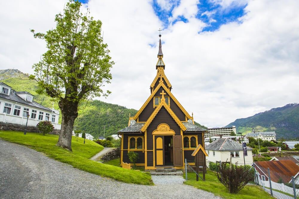 Iglesia de St Olaf en Balestrand