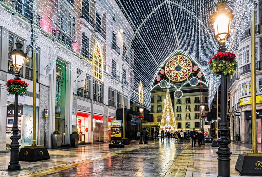 Iluminación navideña en Málaga