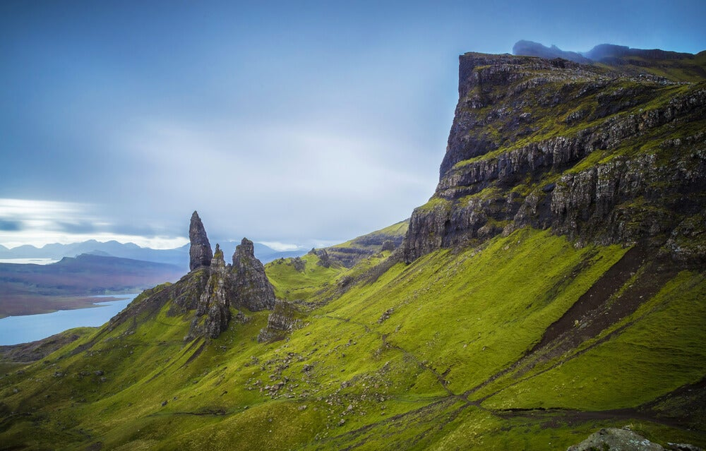 Old Man of Storr en la isla de Skye en Escocia