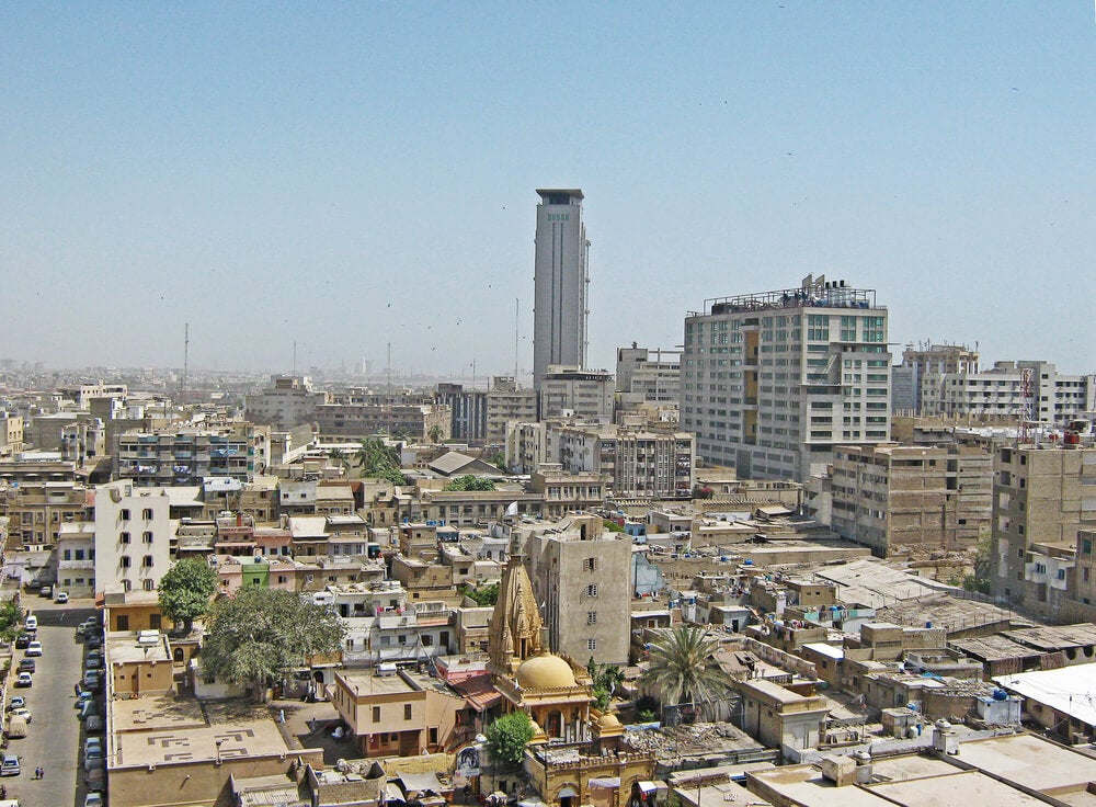 Vista deKarachi, la ciudad menos segura