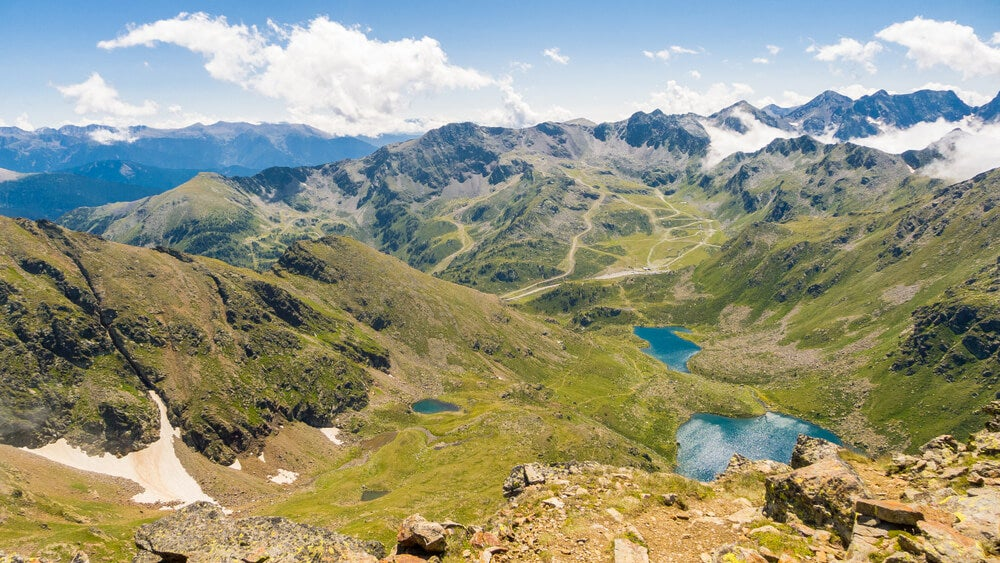 Vista de los lagos de Tristaina