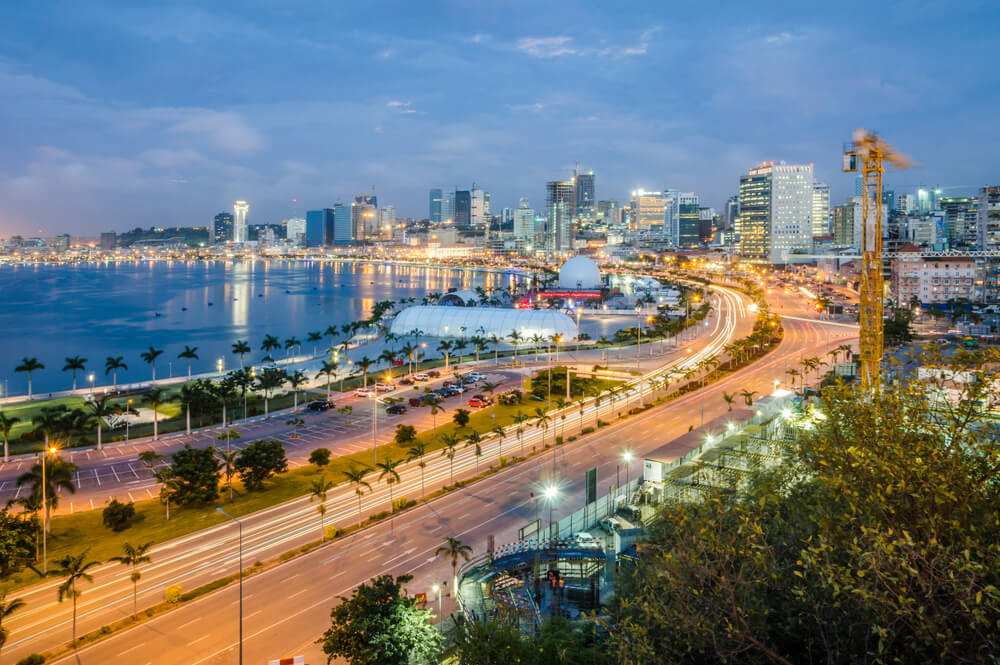 Vista de Luanda en Angola