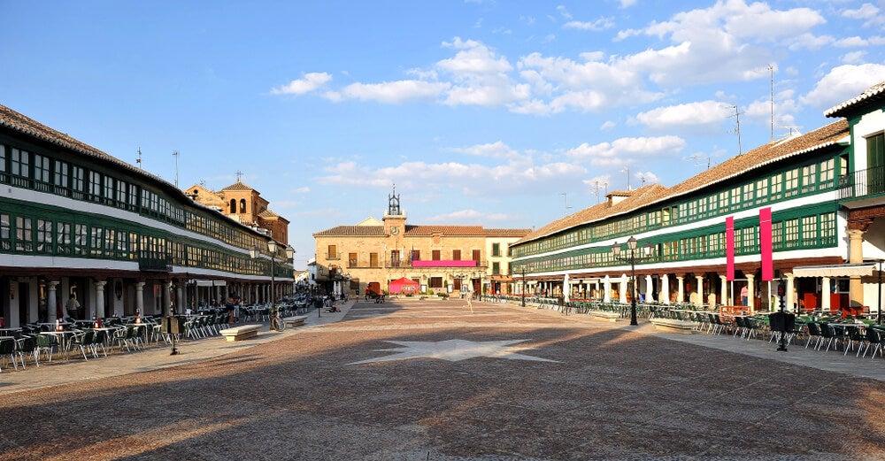 Plaza Mayor de Almagro en la provincia de Ciudad Real