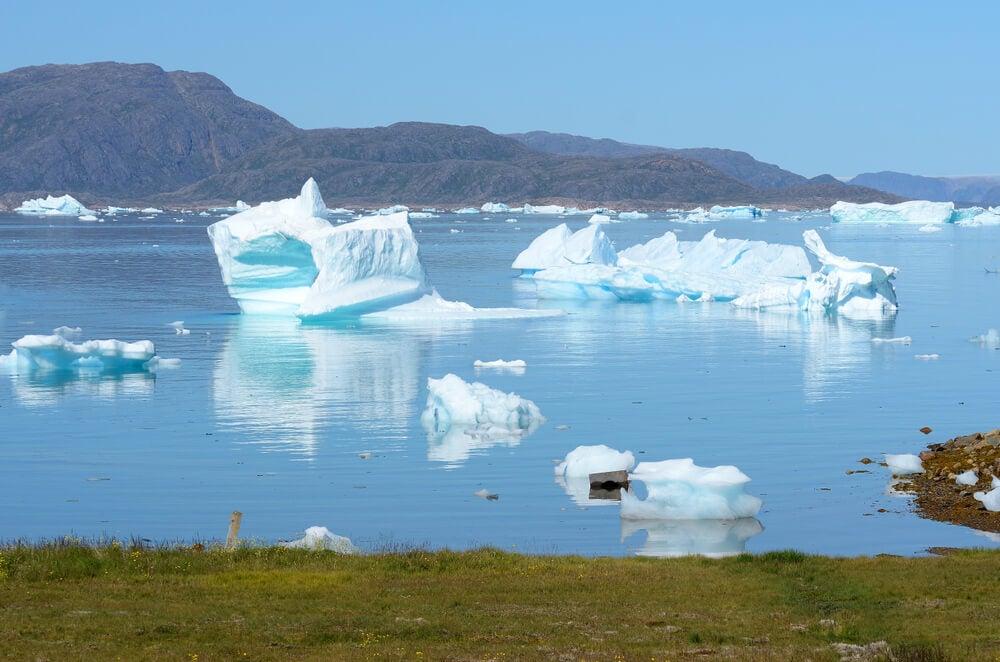 Paisaje de Quassiarsukl en Groenlandia