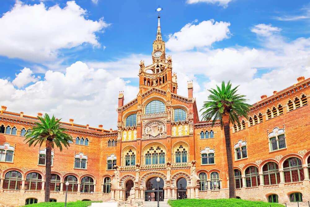 Recinto modernista de San Pau en Barcelona