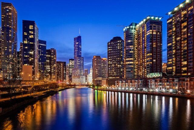 Downtown Chicago por la noche