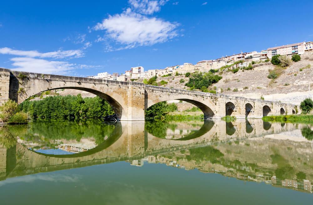 Río Ebro en San Vicente de la Sonsierra en La Rioja