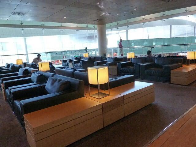 Sala vip en el aeropuerto de Barcelona
