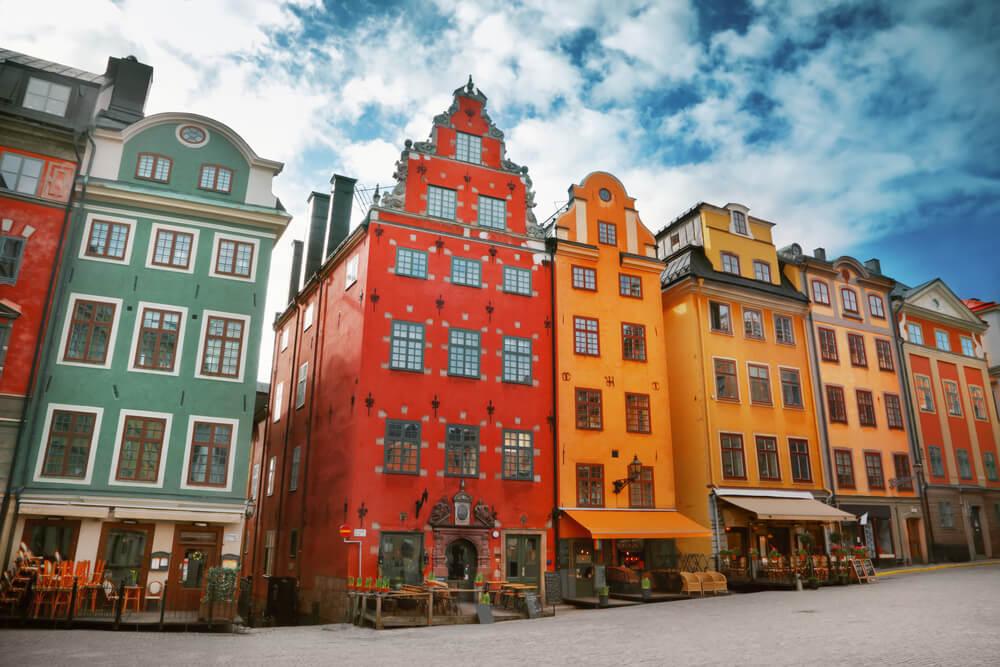 Edificios en Stortorget en Estocolmo